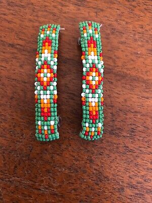 Navajo Indian Jewelry Hand Beaded Hair Clip Barrette by Lucille Ramone Nice #3