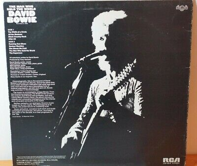 Rare David Bowie Man Who Sold The World RCA Black Label LSP4816 V EX SLV: VG