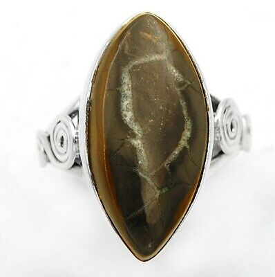 Natural Septarian Ring Size 7 925 Solid Sterling Silver Handmade Jewelry Jn934 Fine Rings