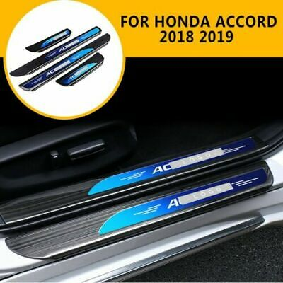 For Honda Accord 2018 2019 4PC Stainless Steel Outer Door Sill Scuff Plate Guard
