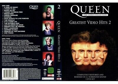 QUEEN GREATEST VIDEO HITS Volume 2 DVD 2 DISC Collection Restored 5.1 Sound UK
