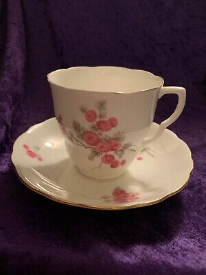 Vintage Radfords English Bone China Tea Cup & Saucer with Floral Pattern