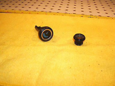 Mercedes Early C107 SLC/SL dash  AC temperature blue OEM 1 knob with 1 OEM Nut