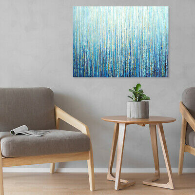 Hand Painted Art Canvas Oil Painting Modern Home Wall Decor Framed - Forest