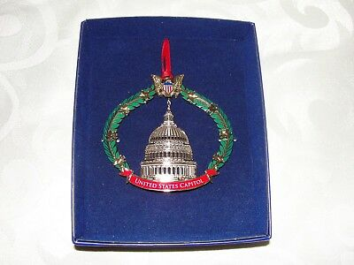 United States Capitol Dome US Capital 2009 Ornament New in Partial Box