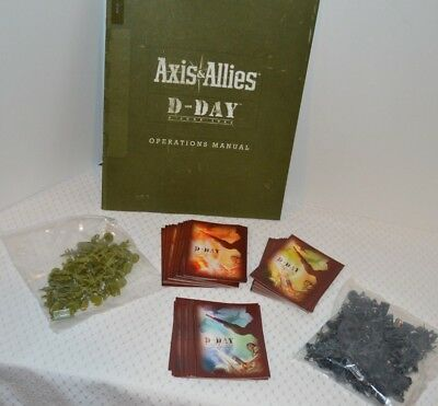 NEW Axis and Allies board-game pieces, Cards and Manual from 1944 D-Day Edition