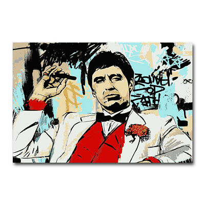 Scarface Classic Movie Art Canvas Poster 8x11 32x43 inch