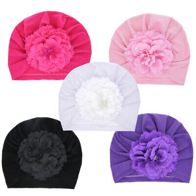 Headband Infant  Girls Turban Baby Flower Hat  Beanie Cap Elastic Headwrap