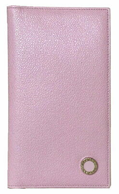 Authentic Bvlgari Notebook Cover Pink Leather Ladies Beauty Product