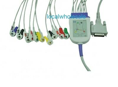 Schiller AT10 Compatible Direct-Connect 10 Lead EKG Cable Pinch