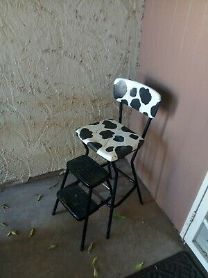 Admirable Vintage Retro Cosco Pullout 2 Step Kitchen Chair Stool Red Pdpeps Interior Chair Design Pdpepsorg