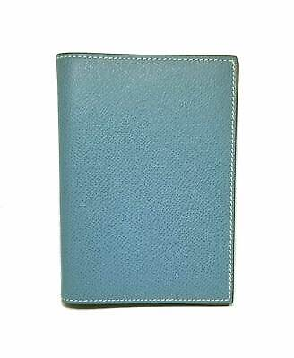 Authentic HERMES notebook cover agenda cover GM blue gene natural