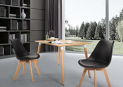 Set of 2 Tulip Style Dining Chair with Solid Oak Wood Legs Office/Kitchen Chairs