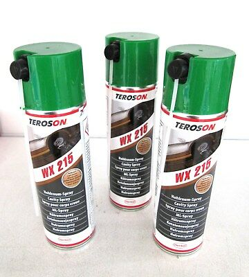 3x TEROSON WX 215 - Holraumspray 500ml - 794224