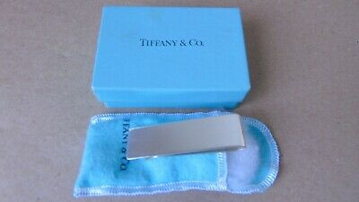 Tiffany & Co American Sterling Silver Money Clip London Imported , Boxed