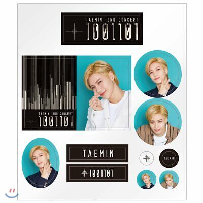 SM Town SHINee TAEMIN 2nd CONCERT T1001101 Official Epoxy Sticker Set