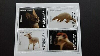 Stamps St Vincent 2017 National Geographic - Animals of the World Mint