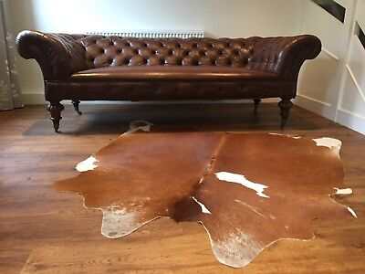 Victorian Leather Chesterfield sofa C1860 JUST fully reupholstered, stunning !