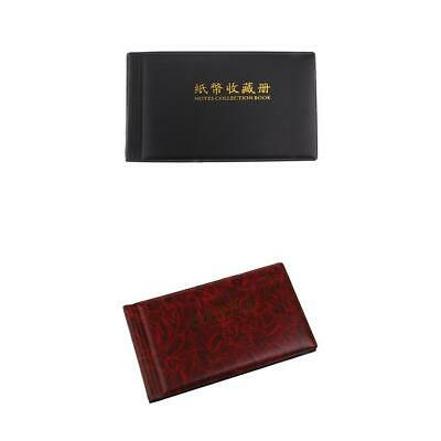 2Pcs Banknote Currency Collect Holder Album Paper Money Coin Pocket 30 Pages