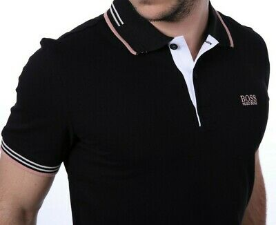 HUGO BOSS Brand New Mens Top Polo T Shirt Casual Style 2019 Black Label Green