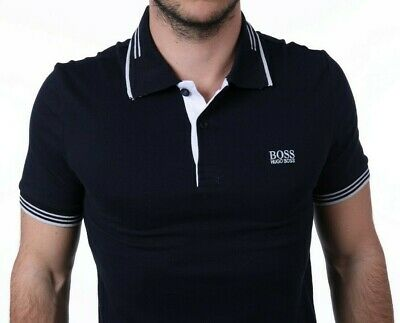 fa9d1bc05 HUGO BOSS Brand New Mens Top Polo T Shirt Casual Style 2019 Navy Label Green