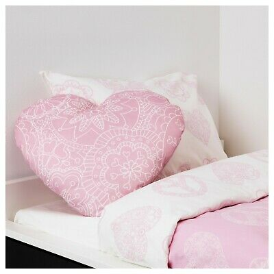 Ikea Pink Heart Novelty Cushion Pillow- Childrens Kid Baby Bedroom Nursery Decor