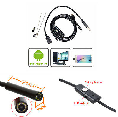 66 Degree Car Off-Road Waterproof OTG 7mm USB Endoscope Inspection Camera w/6LED