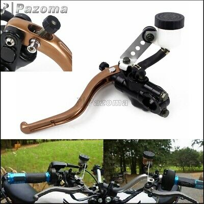 7/8'' Left Motorcycle Hydraulic Clutch Lever Master Cylinder Straight Push Pump