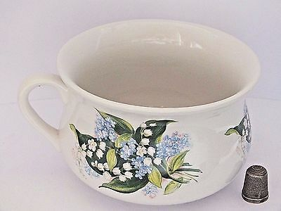 "Small 4.5"" Size Portmeirion Chamber Pot with Lily of the Valley & Forget-Me-Nots"