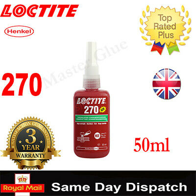 LOCTITE 270 50ml /577/290/638/648/ THREADLOCK ADHESIVE GLUE 10ml/ 20 250 300 ML