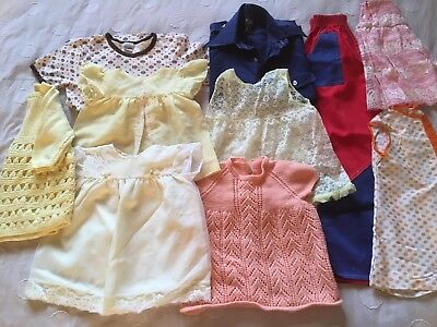Girls Clothes Bundle VINTAGE 10 Items Approx Age 6 Months - 8 Yrs (B26)