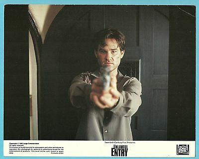 Unlawful Entry Kurt Russell Movie Film Publicity Press Photo Lobby Card