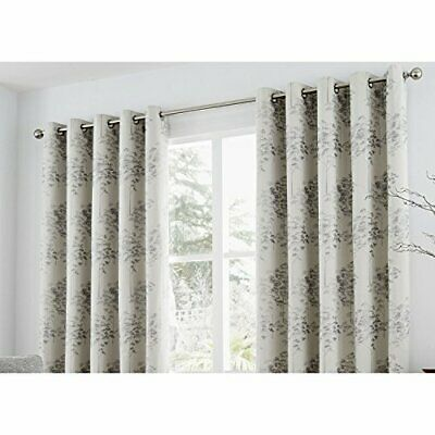 "Curtina Fund(Curtains: 66"" Width x 72"" Drop (168 x 183cm) Plateado)"
