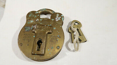 g Brass Jared #3 Four Lever Lock Padlock with Working Key