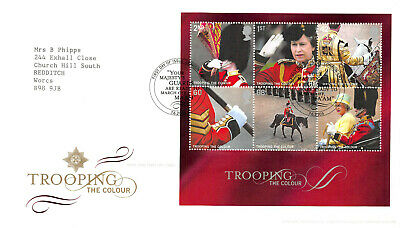 Trooping the Colour First Day Cover - Mini Sheet Stamps GB 2005 FDC