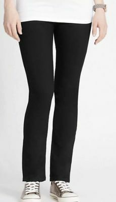 b0fb1d862f054 Bnwt Marks & Spencer Maternity Jeans Uk 12 Black Over The Bump Panel Cotton  Rich