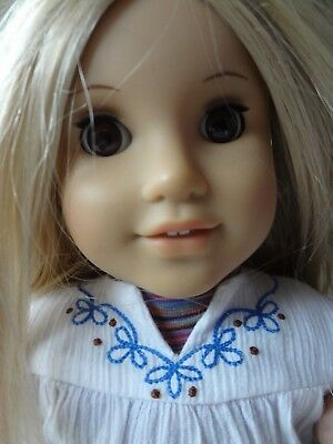 American Girl~Julie~Julie Albright~ with Meet Outfit+extra outfit ~EUC
