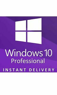 Microsoft Windows 10 Pro Professional 32/ 64bit Genuine License Key code