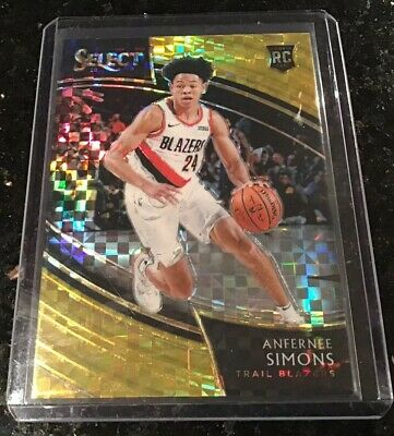 6afe456e3d0a 2018-19 Panini Select Anfernee Simons Courtside Prizm Gold Rookie   10  Blazers