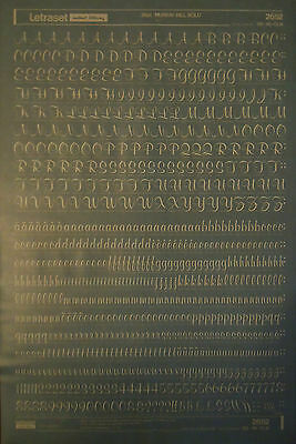 WHITE LETRASET Rub On Transfers MURRAY HILL BOLD 36pt (#2652) NEW *RARE*