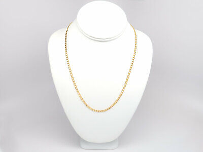 "14K Solid Yellow Gold Cuban Chain Necklace  16"" 18"" 20"" 22"" 24"" 26"" 28"" 30"""