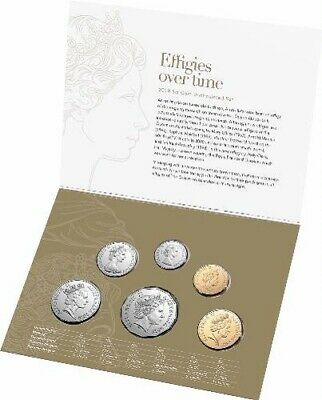 2019 Six 6 Coin Set Uncirculated - Effigies Over Time
