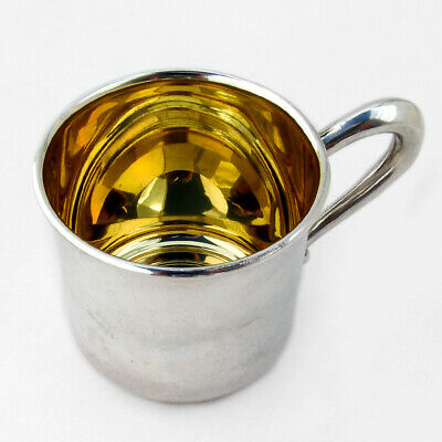 Baby Cup Sterling Silver Gilt Interior Web