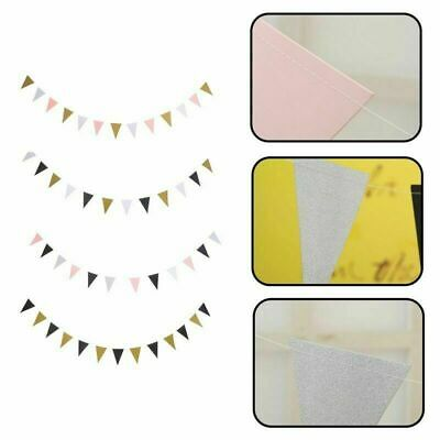 3M 15 Flags Glitter Bunting Pennant Banner Wedding Party Home Hanging Beauty