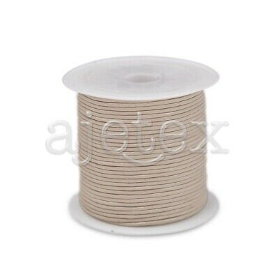 10M Real Leather Cord Thread Jewellery Beading Bracelet 1x1mm Off White
