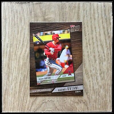 Los Angeles Angels Shohei Ohtani 2019 Topps Series 1 Topps Now Review TN-3