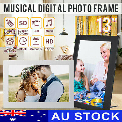 "AUS 13"" HD 1080P LED Digital Photo Picture Frame MP4 Player Video Clock Remote"