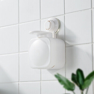 Wall Mounted Bathroom Liquid Soap Dispenser Shampoo Dispenser with Suction
