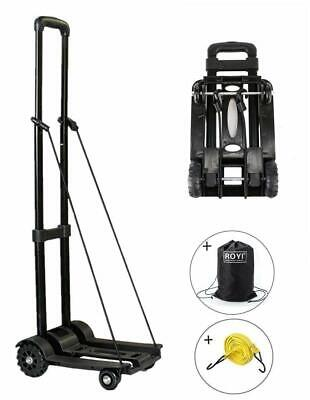 Portable Cart Folding Dolly Push Truck Hand Collapsible Trolley Luggage 155lbs