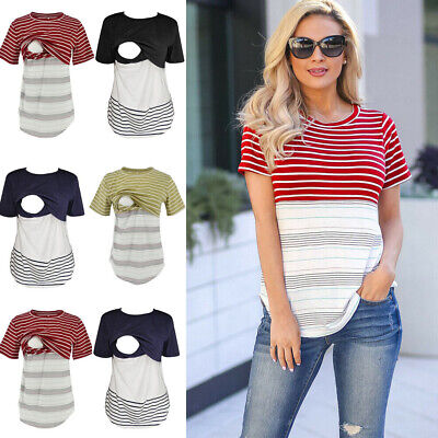 292478c00d278 Women Pregnant Maternity Clothes Nursing Tops Breastfeeding Loose T-Shirt  Blouse
